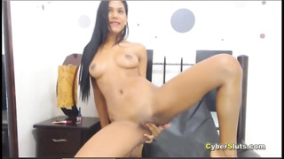 Oiled Ebony Teen Anal Fingering And Toys