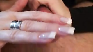 Erotic Handjob With Only Her Fingers Makes Him Cum