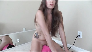 Amateur Lelu Love Rides Her Vibrating Toy