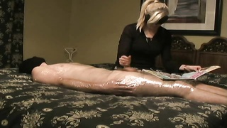 Bored Wife Gives Her Man A Handjob