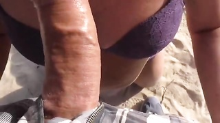 Public Beach Blowage  Cum On Huge Large Mummy  Bootie