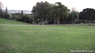 Sexy GILF Flashes And Sucks Cock In Public Park