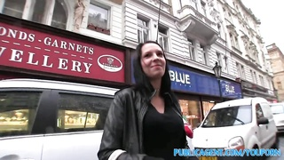 Amateur Sex - PublicAgent She Is Fucked From Behind In A Public Stair Well