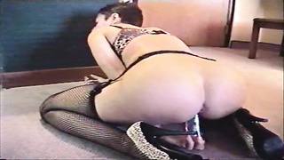 Fledgling  In Sexy Thong Sits On Her Toy