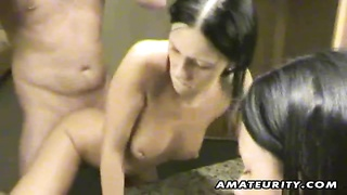 A Very Cute Brunette Amateur Girlfriend Homemade Hardcore Action With Blowjob And Fuck Ending With H