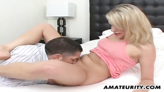 Blonde Amateur Girlfriend Enjoys A Big Cock