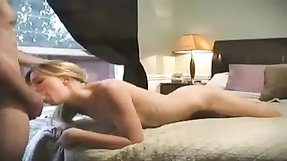 Sexy Young Blonde Has Terrific Amateur Sex In Bed