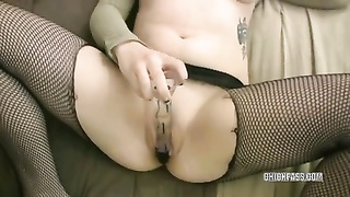Lovely College Woman Mia Is Pounding A Toy