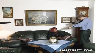 A Nasty Redhead Amateur Mature Housewife Homemade Hardcore Blowjob With Cumshot On Her Tits !