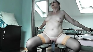 German Milf Sabine Trying Her Modern Fucking Chair
