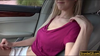 Big Tits Blonde Teen Fucked In The Car