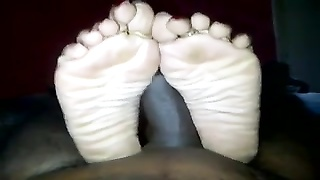 Beautiful Indian Gives Footjob Pt. One