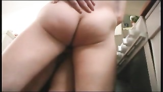 Old Mom And Her Bf In The Kitchen! Russian Amateur!