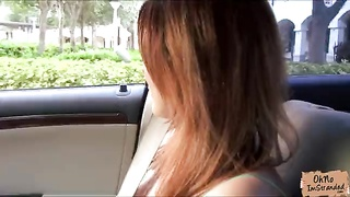 Dapper Huge-titted Redhead Inexperienced Needs A Spin And Gets Ravaged In The Car