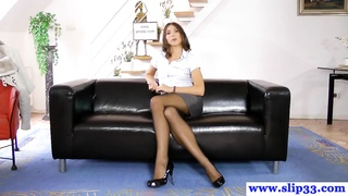 POV Amateur Casting With Classy Russian Babe