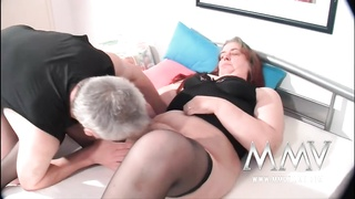 MMV Films German Tart  Helping Out A Corpulent Mature Wife To Orgas