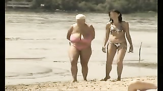 Retro Big Boobs Mix On Russian Beach
